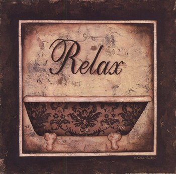 relax ~ fine-art print - contemporary bathroom art prints and