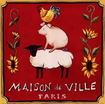 vintage posters for kitchen drawer cabinet maison de ville fine art print prints and