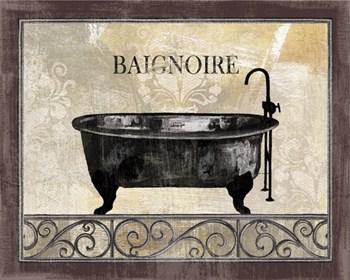 bath silhouette i ~ fine-art print - bathrooms art prints and