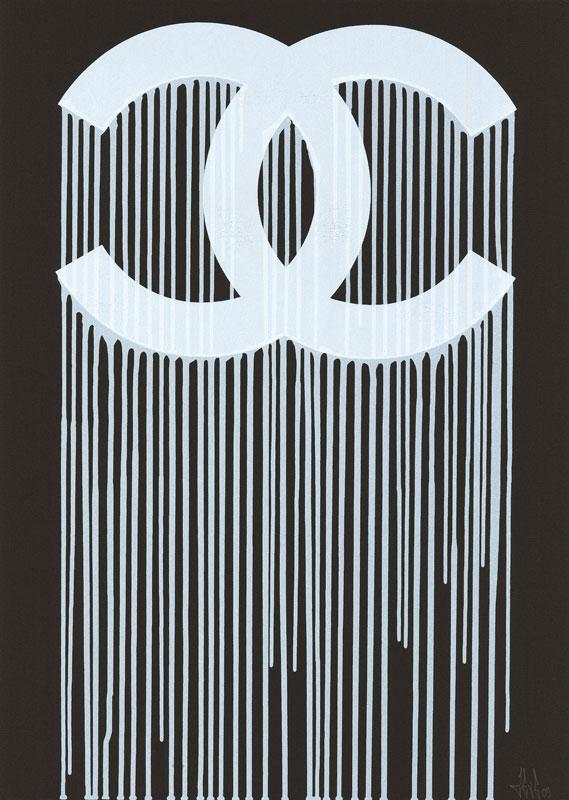Wallpaper Iphone X Black Zevs Liquidated Chanel Print Available