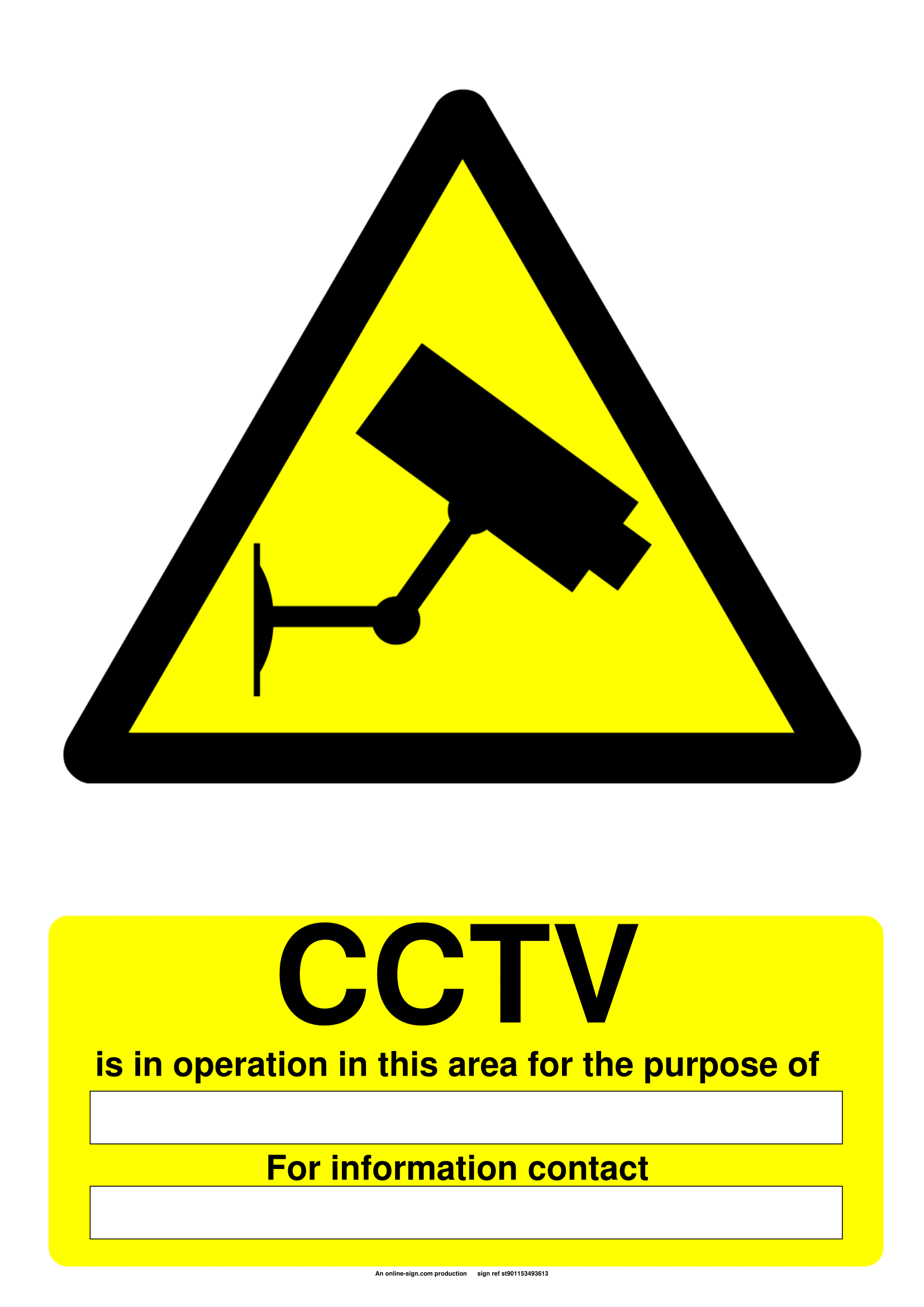 warning sign template