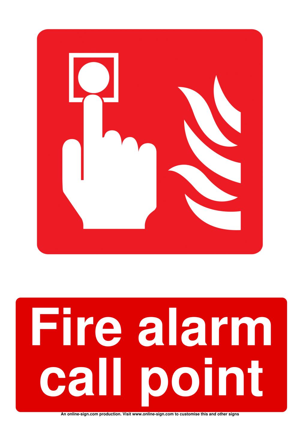 medium resolution of fire alarm signs
