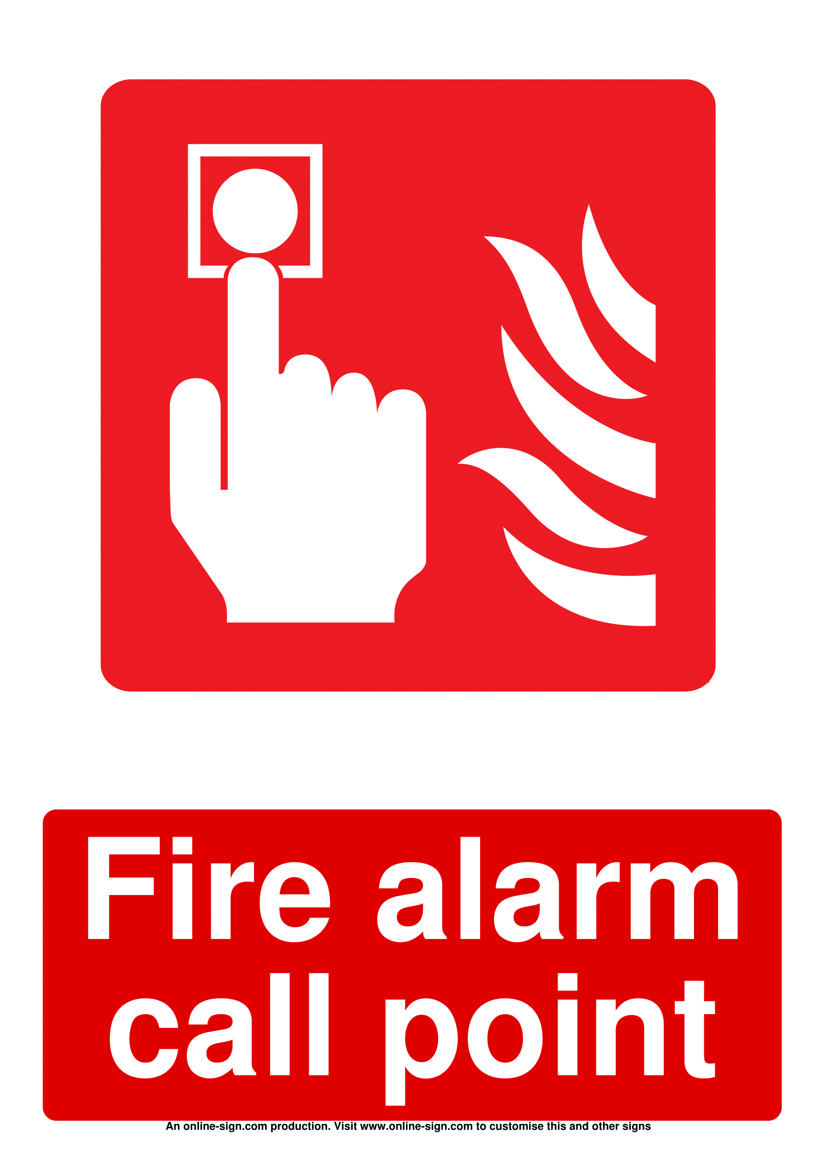 hight resolution of fire alarm signs