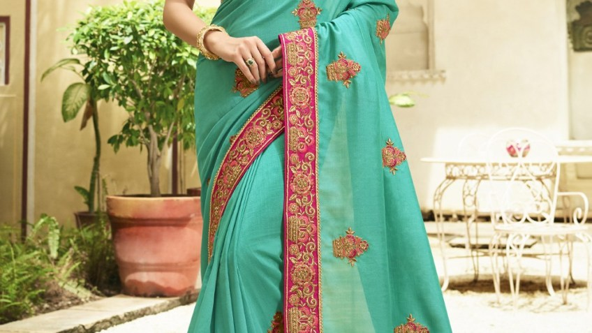 Buy Stylish Embroidered saree at affordable price | free Classified | Free Advertising | free classified ads