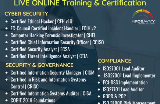 IT Management & Cyber security Live online Training & Certification   info-savvy.com   free Classified   Free Advertising   free classified ads