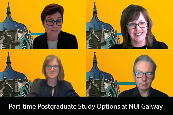 Watch the Webinar: Part-time Postgraduate Study Options at NUI Galway