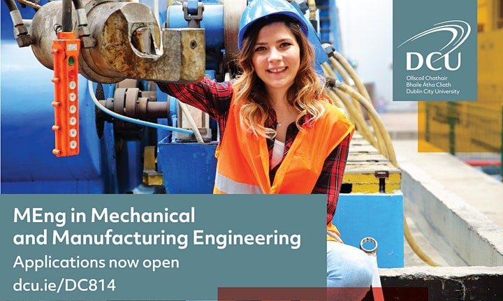 MEng in Mechanical and Manufacturing Engineering at DCU