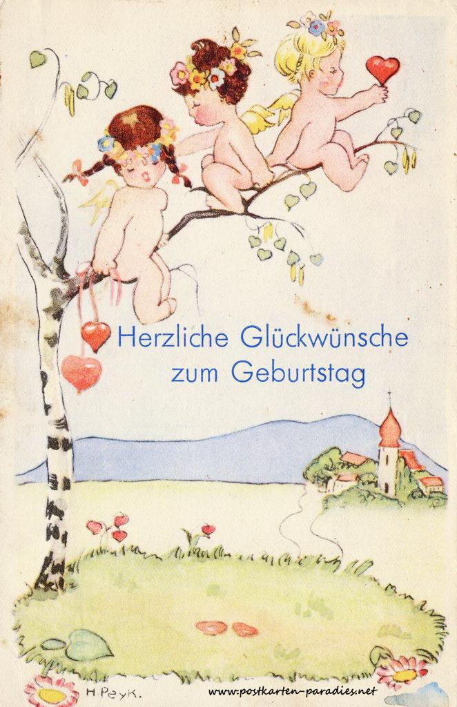 Schne alte Geburtstagskarten  Alte Postkarten