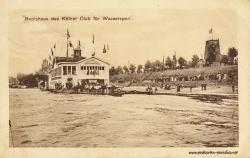 Ansichtskarte Köln-Rodenkirchen: Bootshaus 1909