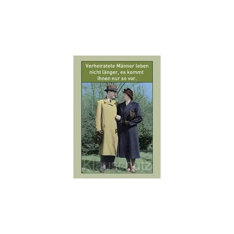 Postkarte  Sprche  Verheiratete Mnner