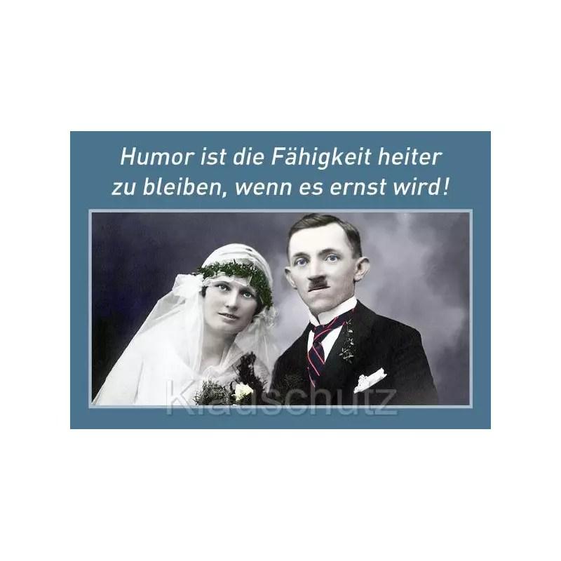 Postkarte Hochzeit Humor ist die Fhigkeit