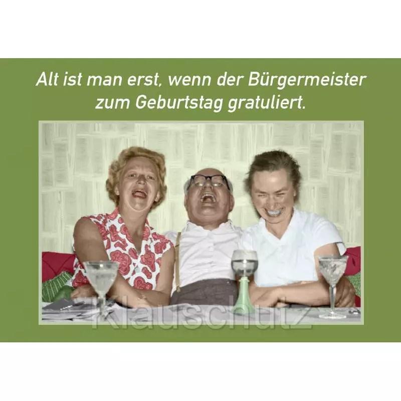 Postkarten Geburtstag  Der Brgermeister