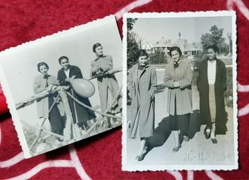 Τρείς κοπέλες κάνουν βόλτα στο Πεδίον του Άρεως τα Χριστούγεννα του 1954