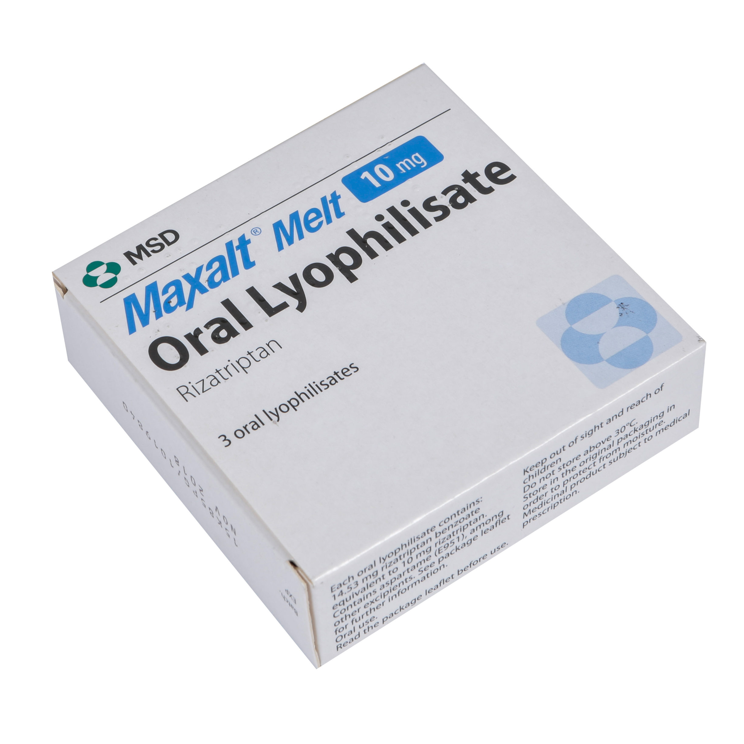Buy Maxalt Melt 10mg Oral Wafers Online - Free UK Delivery