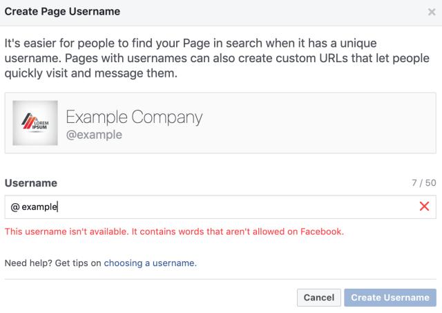 How Do I Claim My Facebook Page Username & Vanity URL?