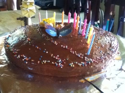 Pastel de cumpleaños que me hizo mami