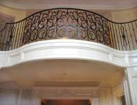 Ornate Curved Balcony Railing