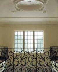 Ornate Curved Balcony Railing - Post Road Iron Works