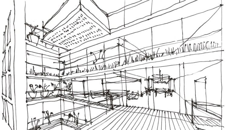Architecture BRIO-KH_sketch of balconies