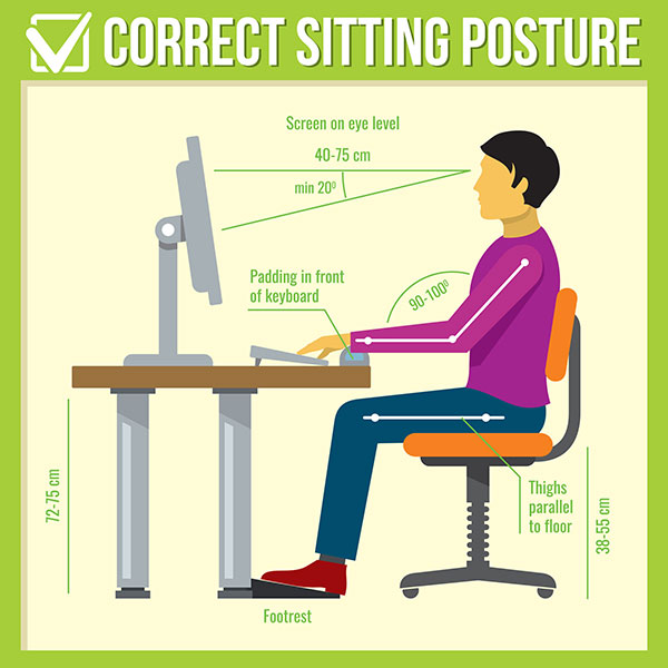 posture chair sitting set of 4 dining room chairs best possible proper illustrated