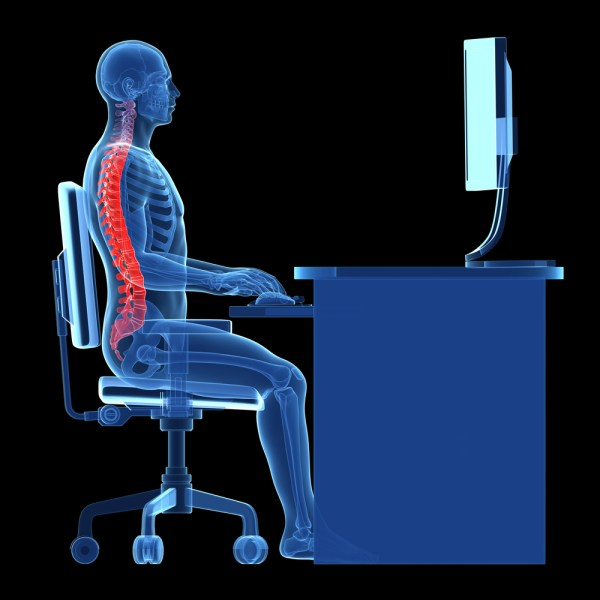 office desk posture