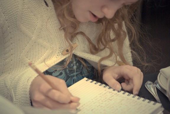 Journal Writing -- photo courtesy of Erin Kohlenberg