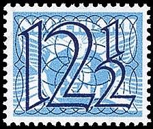 NVPH 360 - Guilloche (traliezegel)