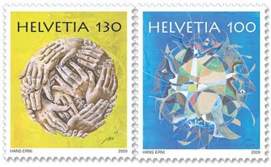 zwitserland-erni-2009-postzegels