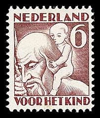 NVPH 234 - Kinderzegel 1930 - herfst St. Christoffel