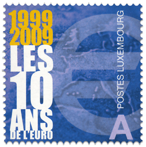 10years_euro_poststamp_luxembourg_2009