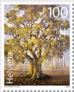 bomen_zwitserland_oak_stamp