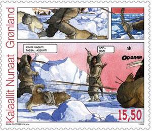 stripverhaal-Groenland-postzegel