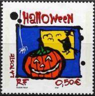 2 postzegel Halloween Frankrijk 2004