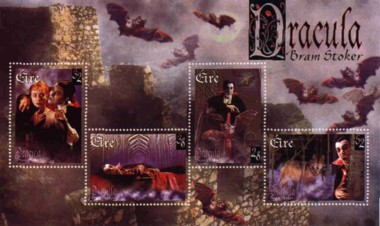 5 postzegelvel Dracula Ierland 1997