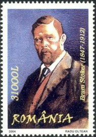 6 postzegel Dracula - Bram Stoker Roemenië 2004