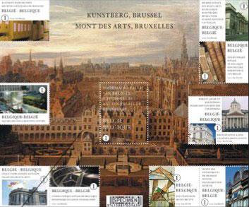 kunstberg-belgie-postzegel