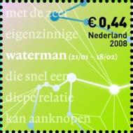 10 postzegel Waterman Nederland 2008