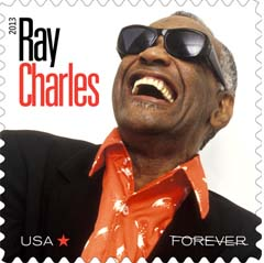 ray charles postzegel