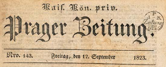 Prager Zeitung 1823