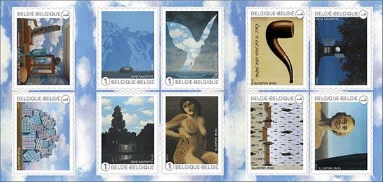 8 september René Magritte, postzegelboekje