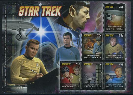Star Trek Televisieserie postzegels