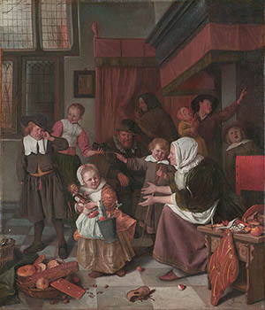 Het Sint Nicolaas Feest van Jan Steen
