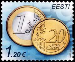 Estland postzegel euro 2014