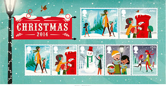 Great Britain Christmas Stamps 2014