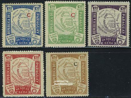 Chaco-paraguay-postzegels