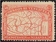 Generaal Miranda postzegels Venezuela