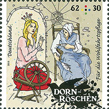 Postzegel Doornroosje Duitsland 2015