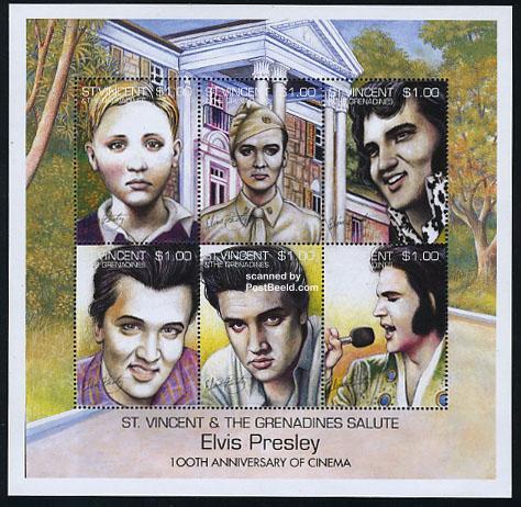 Lelijke Elvis Presleuy Postzegels