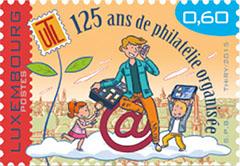 Postzegel Luxemburg 2015 125 jaar philatelie organisatie