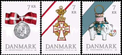 Postzegels Denemarken 2015 orde Olifanten